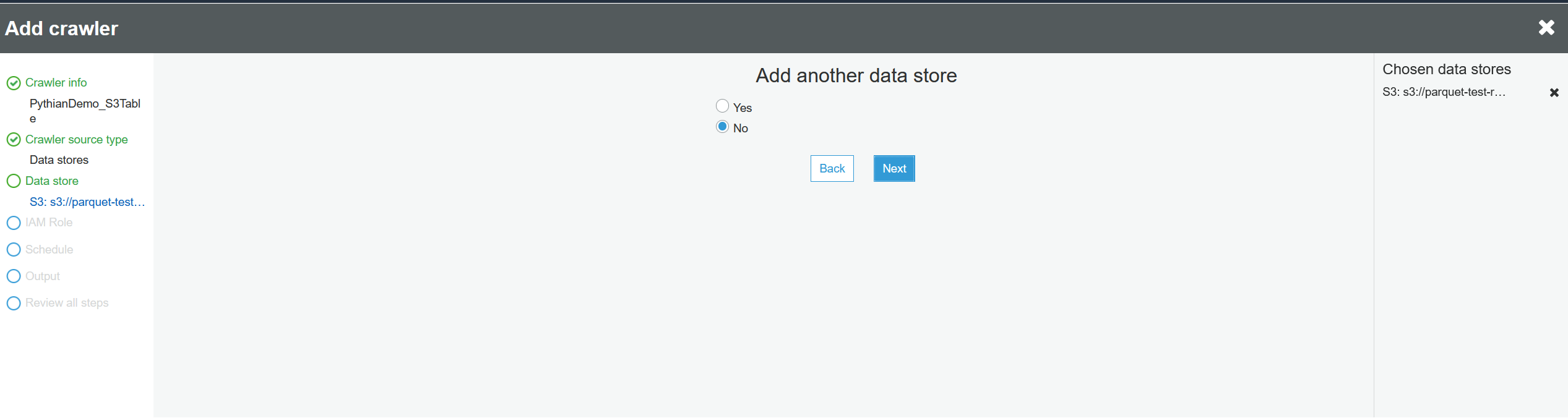 Add another data store.